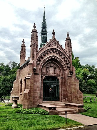Bellefontaine Cemetery - The Busch Mausoleum, designed by Barnett, Haynes & Barnett.