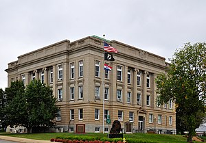 National Register of Historic Places listings in Butler County, Missouri - Image: Butler County Courthouse