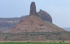 Butte in Canyonlands, Horseshoe Canyon