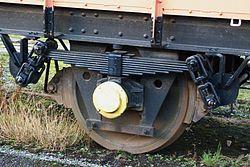 Butterley railway station, Derbyshire, England -wheel-19Jan2014.jpg