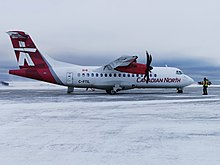 C-FTIL Canadian North-First Air ATR42-500 at Cambridge Bay Airport.jpg