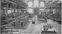 CW Hunt, Catalog No 038 page 45, bound for Harry Hildebrand in 1905. Cast plate 'industrial' railway tracks in the works of Ludwig Löewe Company, Berlin.  Machinery hall (No 19026) .jpg
