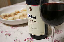 A glass of Chianti