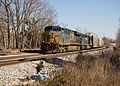 CSX through Boyds, MD w Memorial (6799232934).jpg