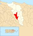 Cacao, Carolina, Puerto Rico locator map.png