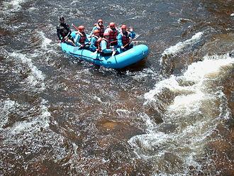 Cache la Poudre River - Rafters on the Poudre River near the Grey Rock trailhead