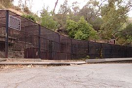 Cages at griffith park zoo.jpg