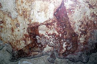 Calceus - A Roman fresco from Paestum showing the calceus