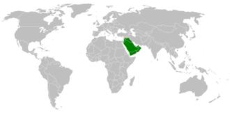 Abu Bakr - Caliph Abu Bakr's empire at its peak in August 634.