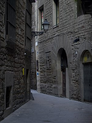 Hasdai Crescas - Carrer Marlet, in the old Jewish Quarter of Barcelona, where Crescas was born. The Sinagoga Major is on the left.