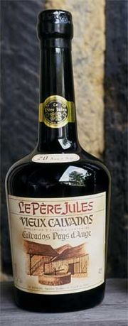 A bottle of calvados Pays D'Auge
