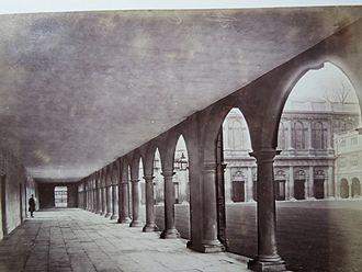 Nevile's Court, Trinity College, Cambridge - Cambridge University, Trinity College, Nevile's Court Colonnade