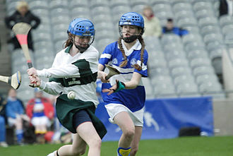 Camogie - A junior camogie match being played in Croke Park, Dublin