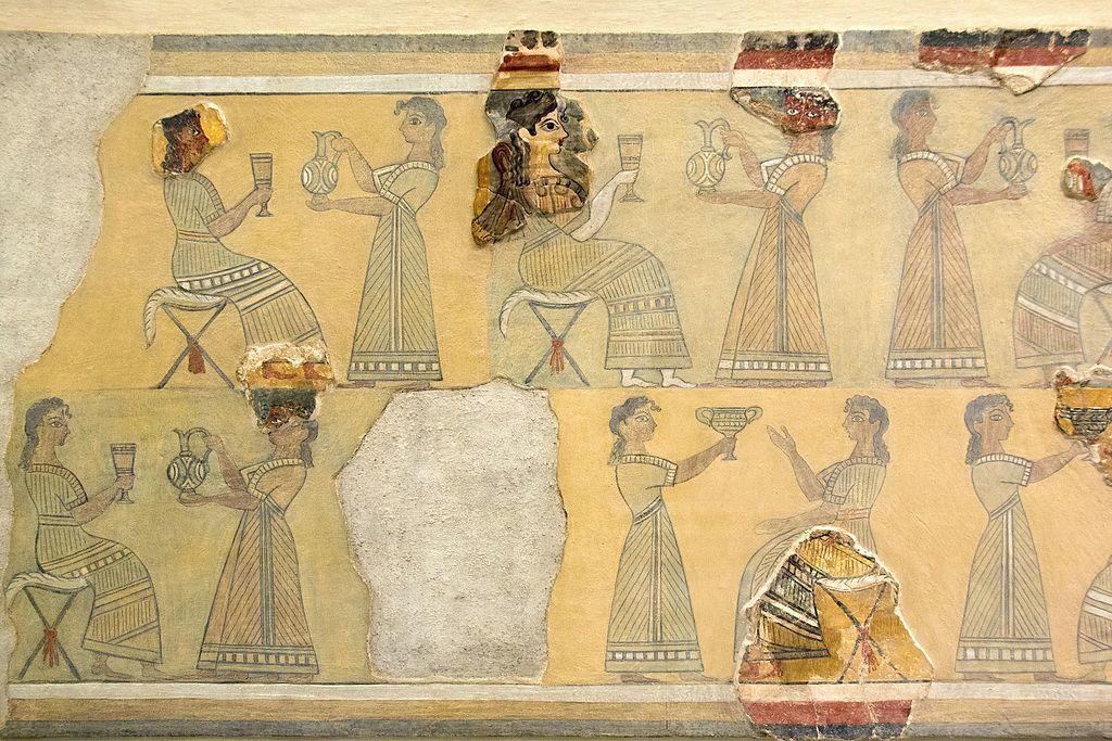 Minoan Fresco of the Ladies in Blue