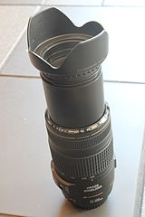 Canon EF 70-300mm lens with petal lens hood.JPG