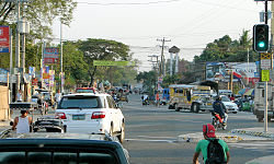 Intersection of MacArthur Highway as seen near Caltex in Capas