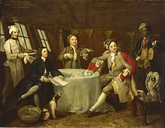 Captain Lord George Graham in his Cabin, 1746, National Maritime Museum