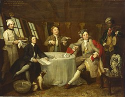 William Hogarth: Captain Lord George Graham in his Cabin