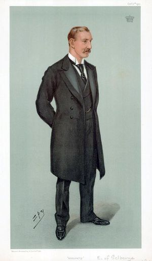 William Palmer, 2nd Earl of Selborne - The Earl of Selborne by Leslie Ward, 1901.