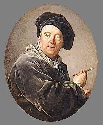 Charles-André van Loo - Portrait of Carle van Loo, by his nephew Louis-Michel van Loo