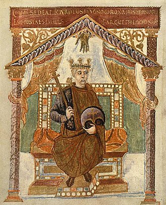 Charles the Bald - Charles the Bald in old age; picture from his Psalter