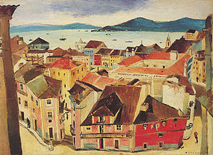 Carlos Botelho -  Lisbon Bouquet, 1935, oil on canvas, 72 × 100 cm