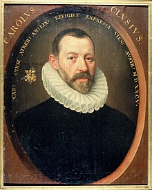 Portrait of Carolus Clusius painted in 1585