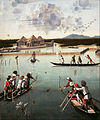 Carpaccio, Vittore - Hunting on the Lagoon (recto); Letter Rack (verso) - Google Art Project.jpg