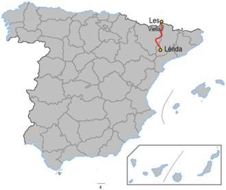 N-230 road (Spain) - Image: Carreteraesp n 230
