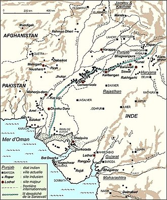 Indus Valley Civilisation - Locations of IVC-sites