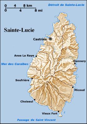Géographie de Sainte Lucie — Wikipédia