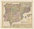 Cartografie in Nederland, kaart van Spanje en Portugal, NG-501-48.jpg