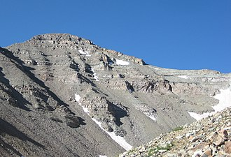 Castle Peak (Colorado) - View from NNE above Montezuma Basin