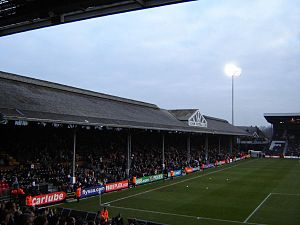 Archibald Leitch - The Johnny Haynes stand at Craven Cottage, home of Fulham Football Club.