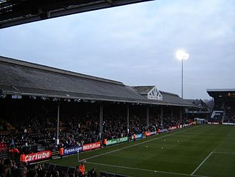 The Johnny Haynes stand at Craven Cottage is a Grade II* listed building. Ccffc.jpg