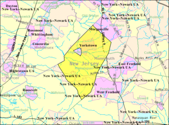 Manalapan Township, New Jersey - Image: Census Bureau map of Manalapan Township, New Jersey