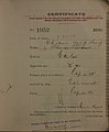 Cham Ying Sing Auckland Chinese poll tax certificate butts Certificate issued at Auckland.jpg