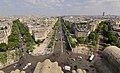 Champs-Élysées from the Arc de Triomphe, Paris 20 June 2017.jpg