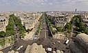 Champs-Élysées from the Arc de Triomphe, Paris 20 June 2017.jpg