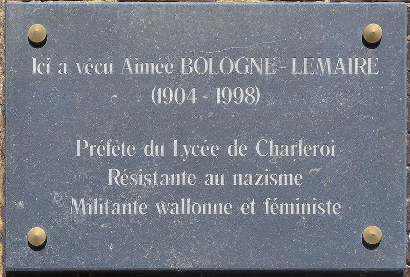 File:Charleroi - Aimée Bologne-Lemaire - Athénée royal Vauban.jpg