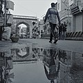 Charminar shadow on road.jpg