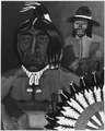 Cherokee High School Student's Painting of a Native American Wearing a Headband and Choker. - NARA - 281614.tif