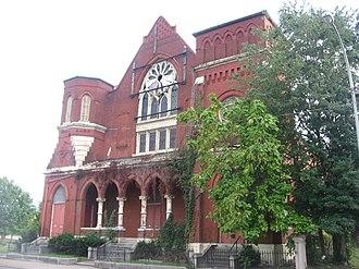 Chestnut Street Baptist Church - Front of the church