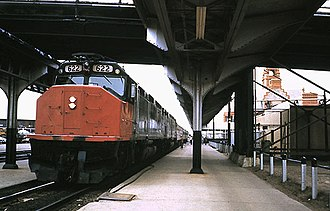 Wyoming Transportation Museum - The San Francisco Zephyr at the Cheyenne Depot, April 1976