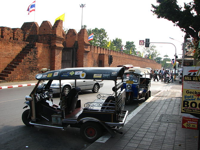 Tuk-tuk waiting for passengers in Chiang Mai