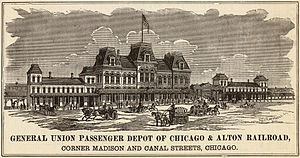 Chicago Union Station - The first Union Station