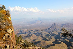 Southwestern United States - The Chihuahuan desert terrain mainly consists of basins broken by numerous small mountain ranges.