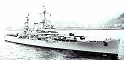 Chilean cruiser O'Higgins (CL-02) underway in 1962.jpg