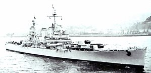 USS Brooklyn (CL-40) - Image: Chilean cruiser O'Higgins (CL 02) underway in 1962