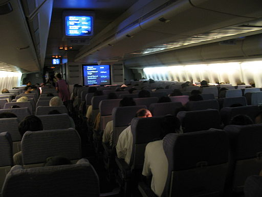 China Airlines 747-400 Economy cabin1